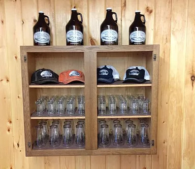 The Tap Room Shelves